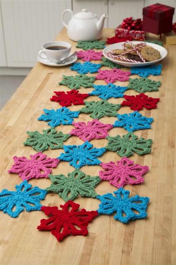 caminho de flores de croche