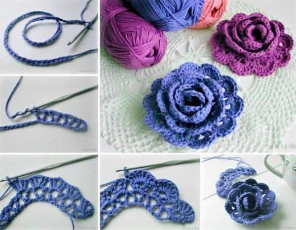 como fazer flor de croche