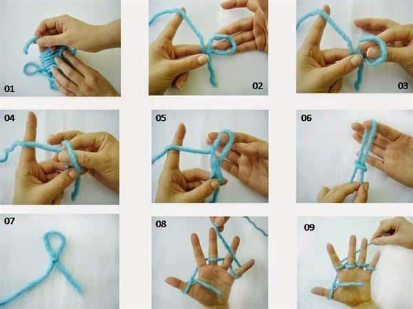 como fazer trico de dedo