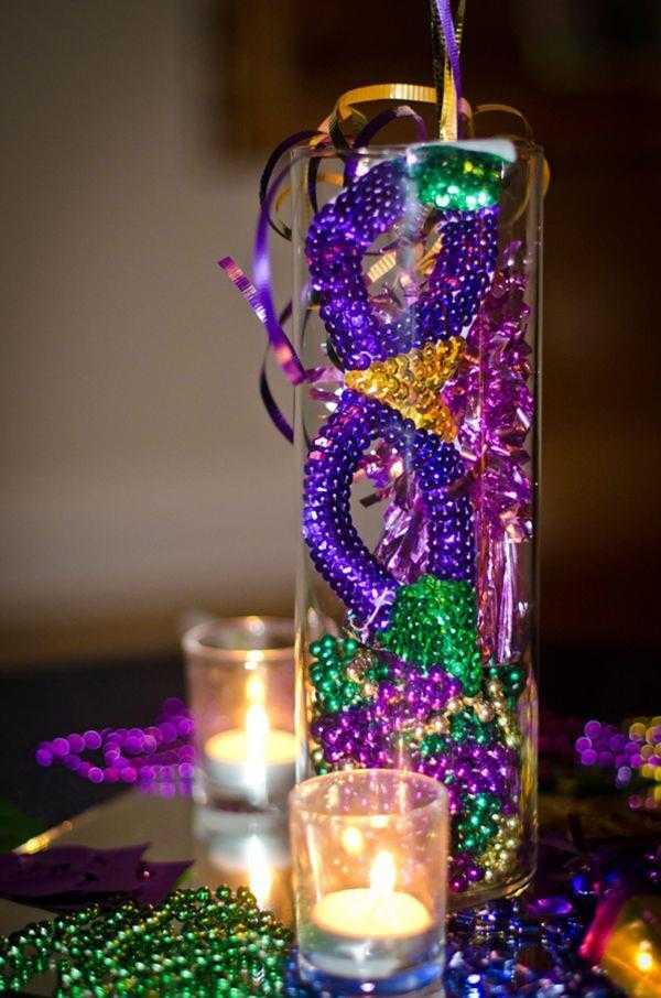 decoração com vela para carnaval