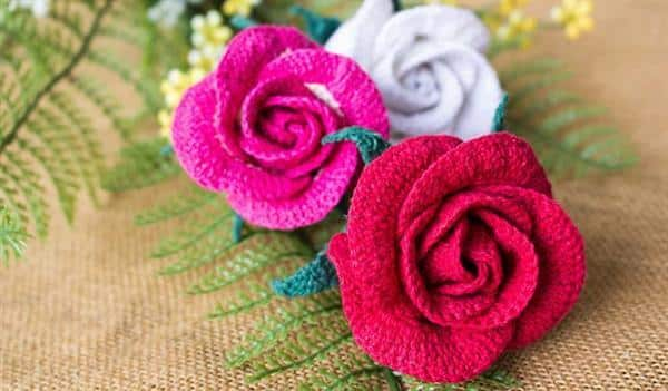 flores de croche para tapete
