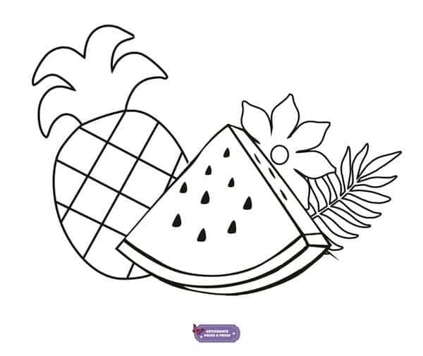 riscos para pano de prato frutas