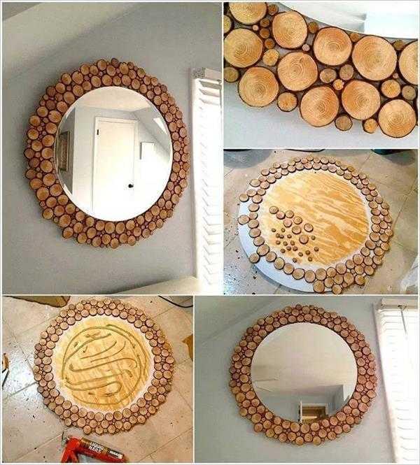 moldura de madeira com espelho