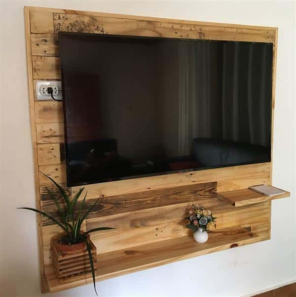 painel feito com pallet