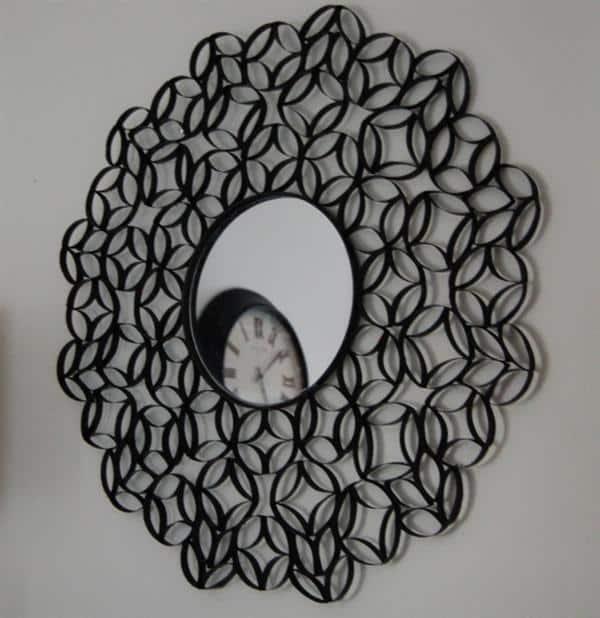 quadro com espelho de rolinho