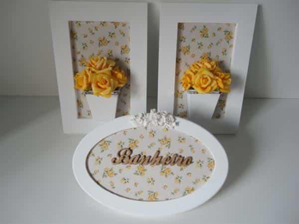 quadros e placas decorativas para banheiro