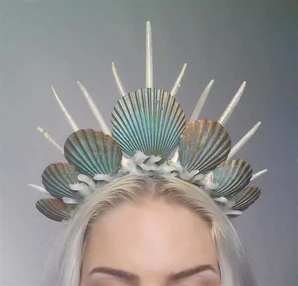 tiara de conchas