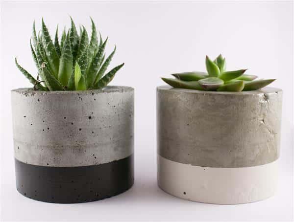 vasinhos de cimento