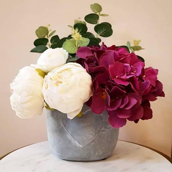 vaso de flor de cimento