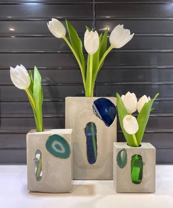 foto vaso de cimento