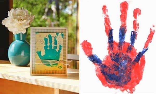 Porta retrato mão