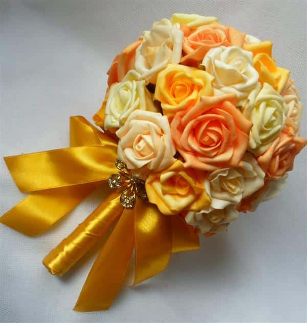 buque de noiva com flores de eva