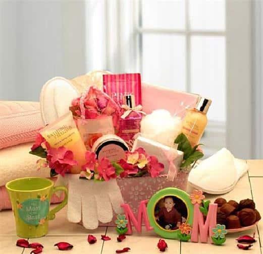 cesta de produtos para dia das mães