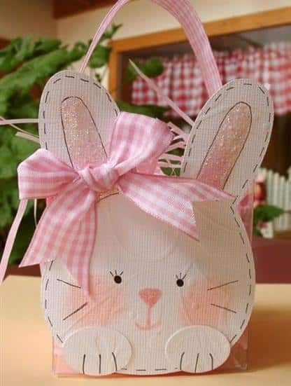 cestinha de coelho fofo