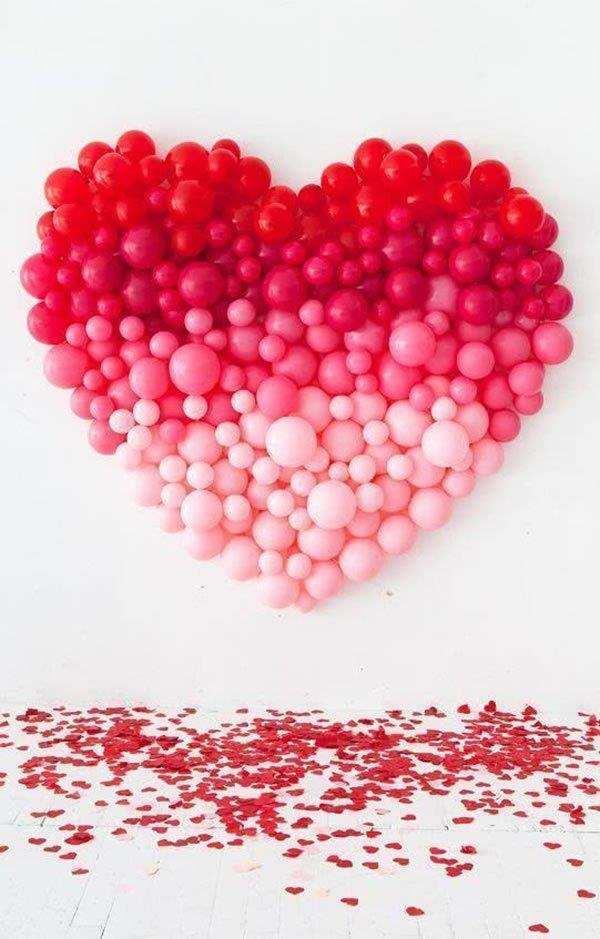coração balões dia das mães