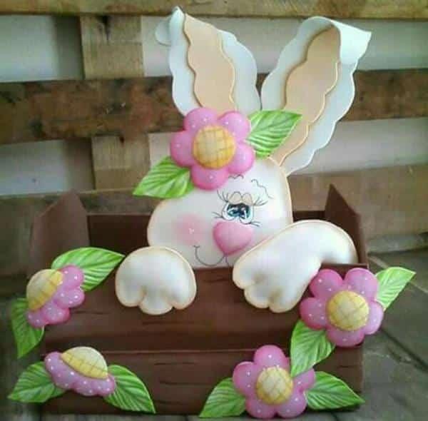 molde de coelhos eva artesanato