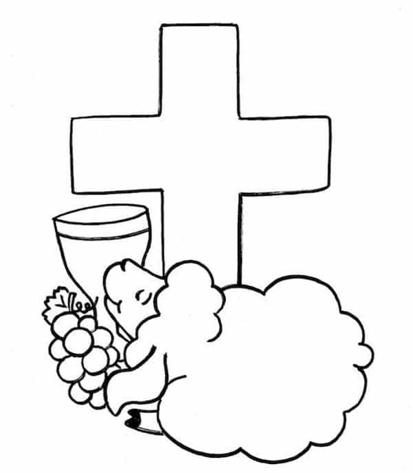 Simbolos Da Pascoa Para Colorir E Imprimir Artesanato Passo A