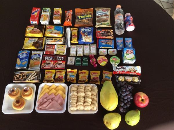 sugestões para cesta de café da manhã
