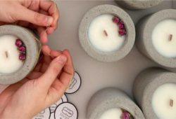 velas feitas à mão