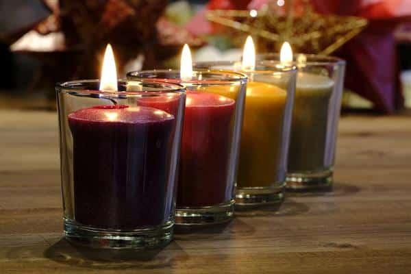 velas perfumada no vidro