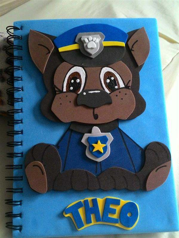 agenda-decorada-em-eva-patrulha-canina-chase