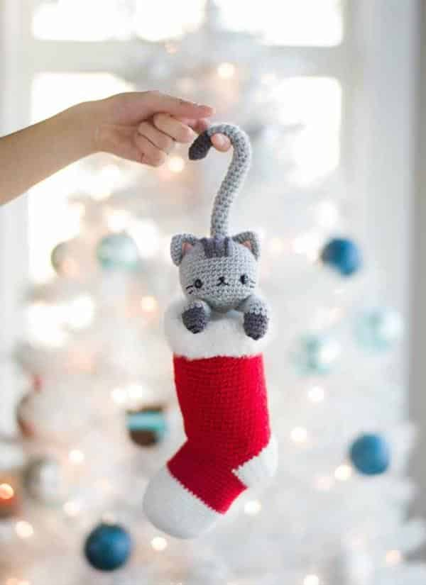 amigurumi gatinho natal