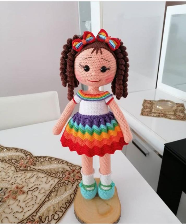 Boneca Negra amigurumi | Bonecas de crochê, Boneca negra, Bonecas | 862x713