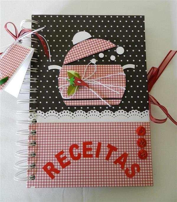 caderno decorado com papel