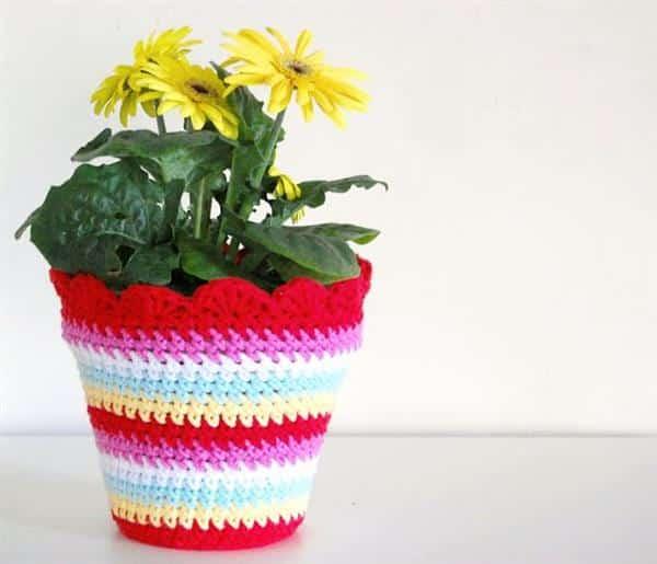 capa para pote de flores