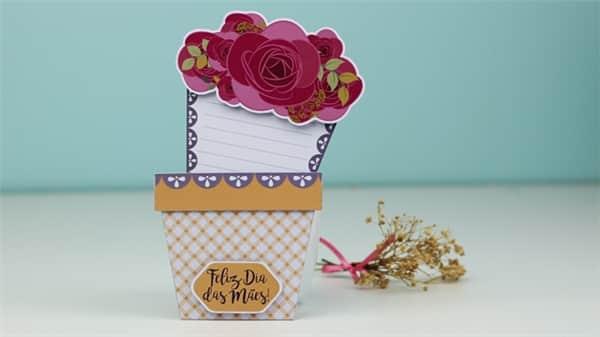 cartao flores dia das maes