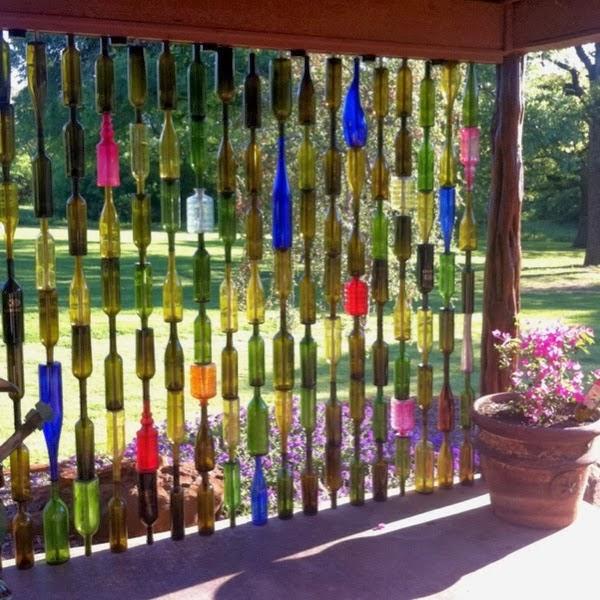 cortina de garrafas