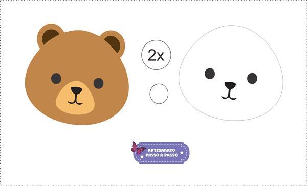 Molde Urso De Eva Modelos Para Imprimir Artesanato Passo A Passo