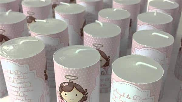 vela decorada batizado