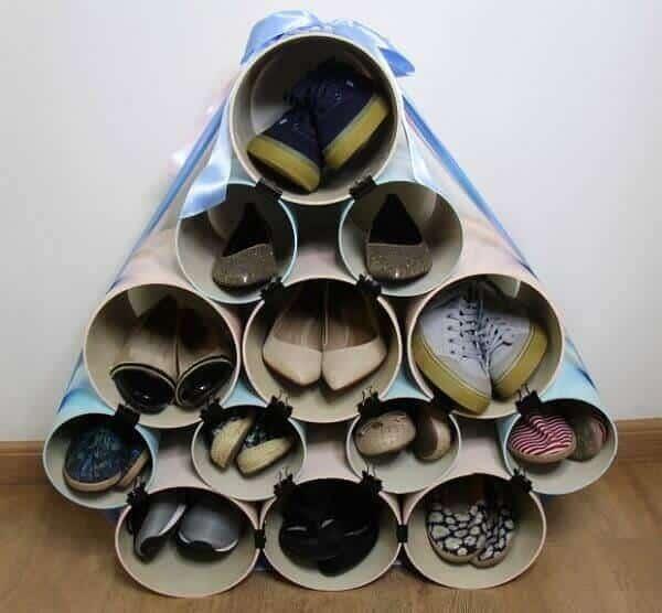 Ideias criativas para guardar sapatos