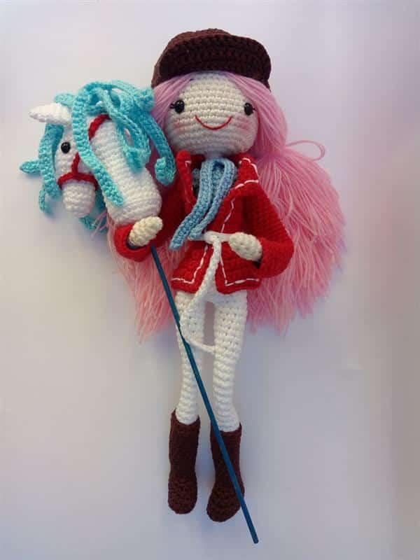 amigurumi boneca de crochê