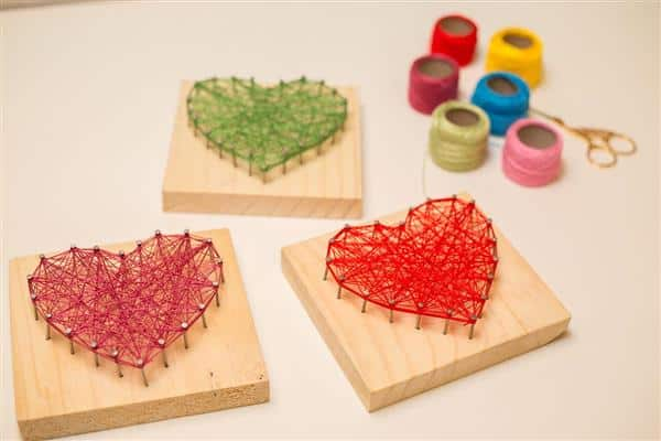como fazer string art
