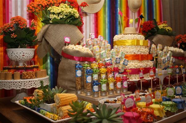 decoração criativa festa junina