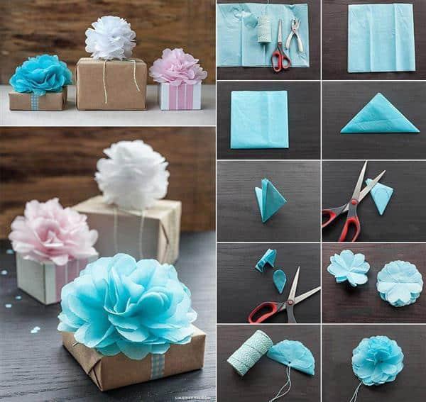 embalagem decorada para dia das mães