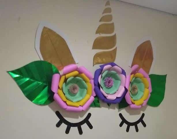 flores unicornio para painel
