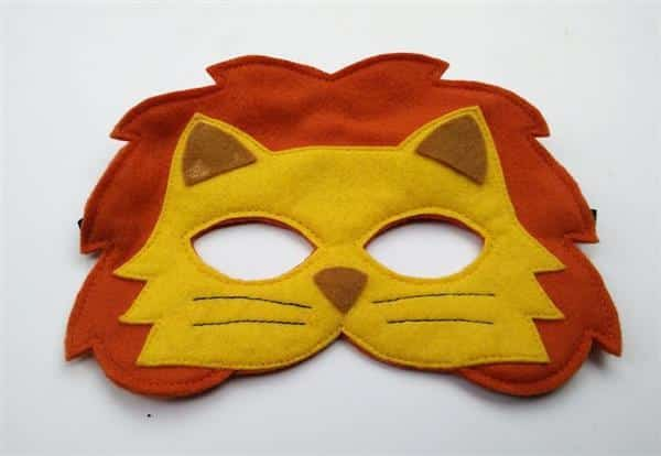 mascara-leao-mascara-feltro