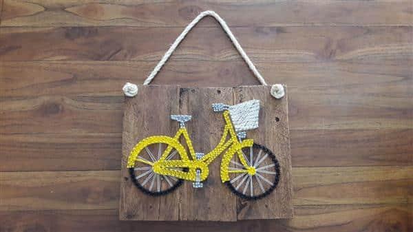 quadro bicicleta de linha
