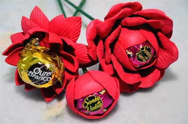 rosas de bombom dia das mães