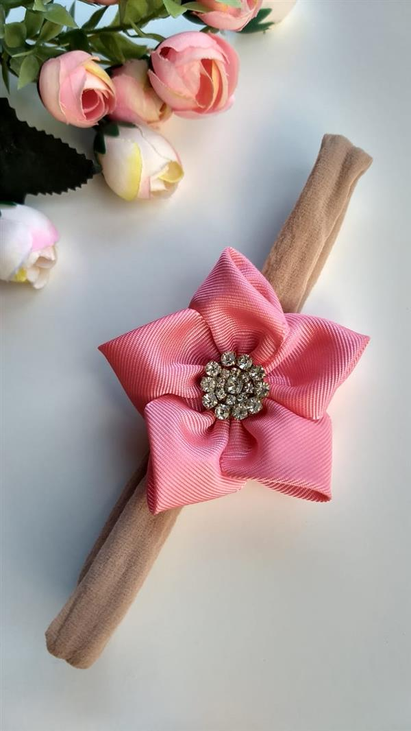 tirinha com flor de cetim