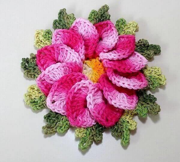 Crochê-flor-begônias