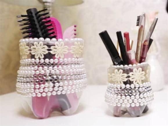 Porta-pincel-de-maquiagem-artesanal de pet