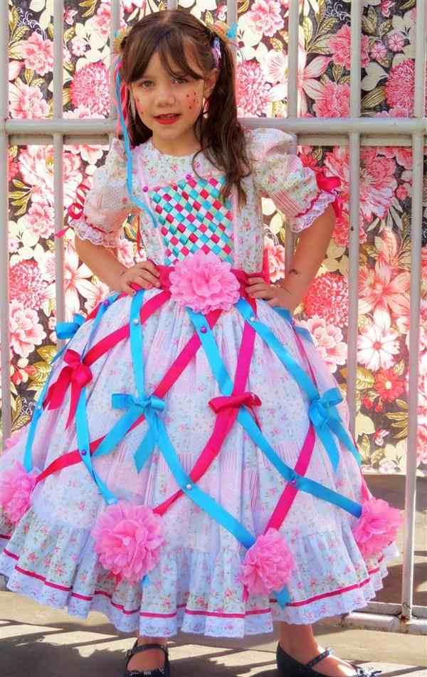 Roupas-de-festa-Junina-para-bebês-e-crianças-vestido-lindo