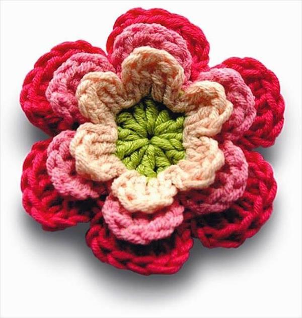 botãode flores de barbante