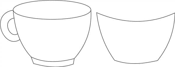 desenho de xicara