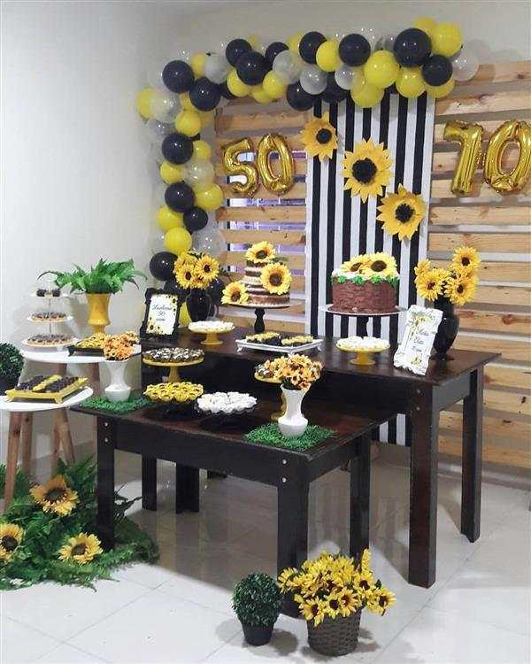 Decoraç u00e3o de girassol como fazer e muitas ideias Artesanato Passo a Passo! -> Decoração De Girassol Para Aniversario