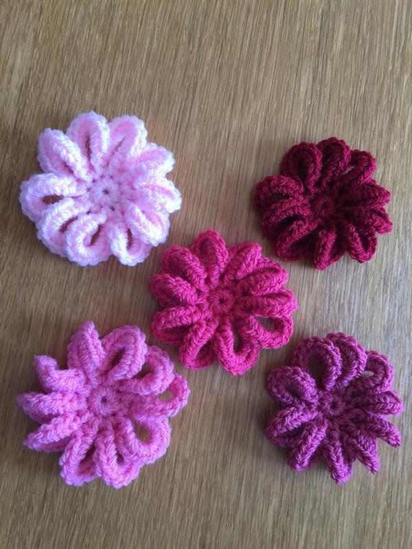 flores de barbante diferente